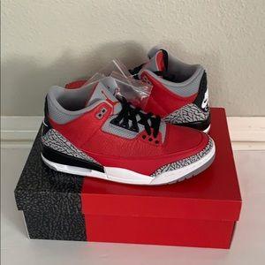 Air Jordan 3 Retro U Fire Red Cement Size 8